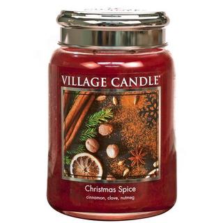 Village Candle Veľká vonná sviečka v skle Christmas Spice 645g - Vianočné korenia