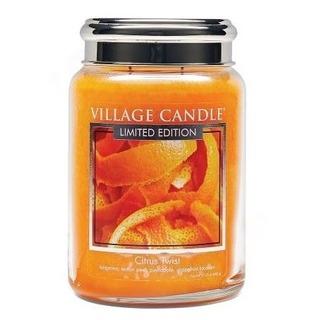 Village Candle Veľká vonná sviečka v skle Citrus Twist 645g - Citrusové osvieženie