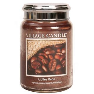 Village Candle Veľká vonná sviečka v skle Coffee Bean 645g - Zrnková káva
