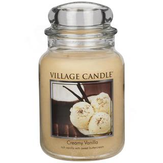 Village Candle Veľká vonná sviečka v skle Creamy Vanilla 645g - Vanilková zmrzlina