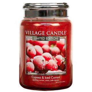 Village Candle Veľká vonná sviečka v skle Cypress and Iced Currant 645g - Cypriš a zamrznutý ríbezle