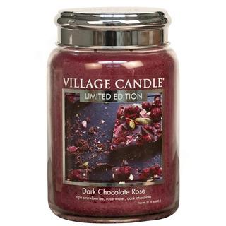 Village Candle Veľká vonná sviečka v skle Dark Chocolate Rose 645g - Čokoládová ruže