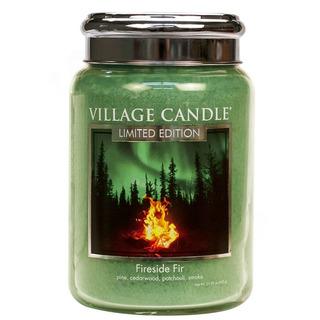 Veľká vonná sviečka v skle Fireside Fir 645g - Táborák z jedlí