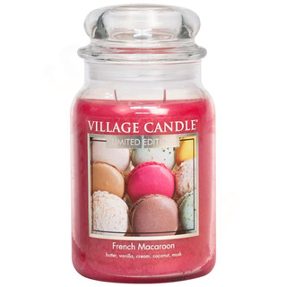 Village Candle Veľká vonná sviečka v skle French Macaroon 645g - Francúzske makrónky