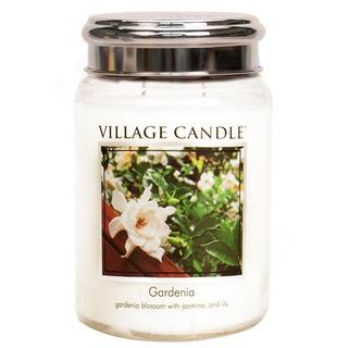 Village Candle Veľká vonná sviečka v skle Gardenia 645g - Gardénia