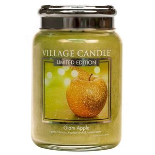 Veľká vonná sviečka v skle Glam Apple 645g - Šťavnaté jablko
