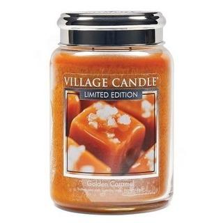 Village Candle Veľká vonná sviečka v skle Golden Caramel 645g - Zlatý karamel