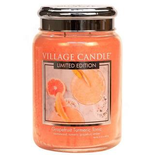 Village Candle Veľká vonná sviečka v skle Grapefruit Turmeric Tonic 645g - Osviežujúci tonic