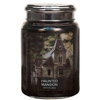 Village Candle Veľká vonná sviečka v skle Haunted Mansion 645g - Strašidelný dom
