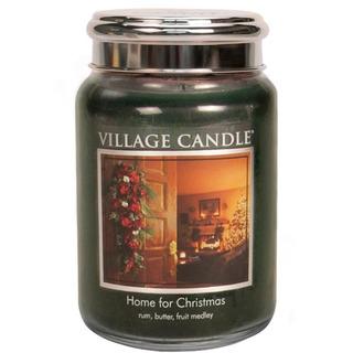 Village Candle Veľká vonná sviečka v skle Home for Christmas 645g - Čaro Vianoc