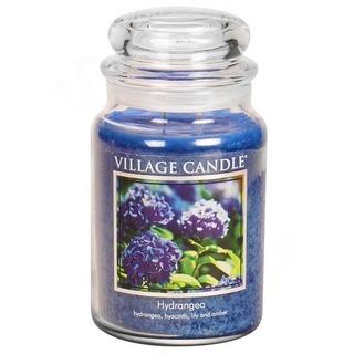 Village Candle Veľká vonná sviečka v skle Hydrangea 645g - Hortenzie