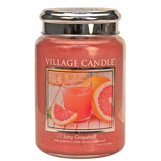 Village Candle Veľká vonná sviečka v skle Juicy Grapefruit 645g