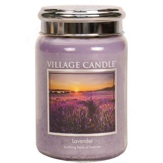Village Candle Veľká vonná sviečka v skle Lavender 645g - Levanduľa