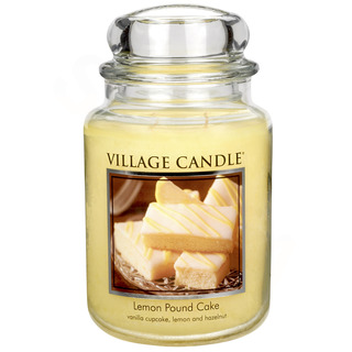 Village Candle Veľká vonná sviečka v skle Lemon Pound Cake 645g - Citrónový koláč