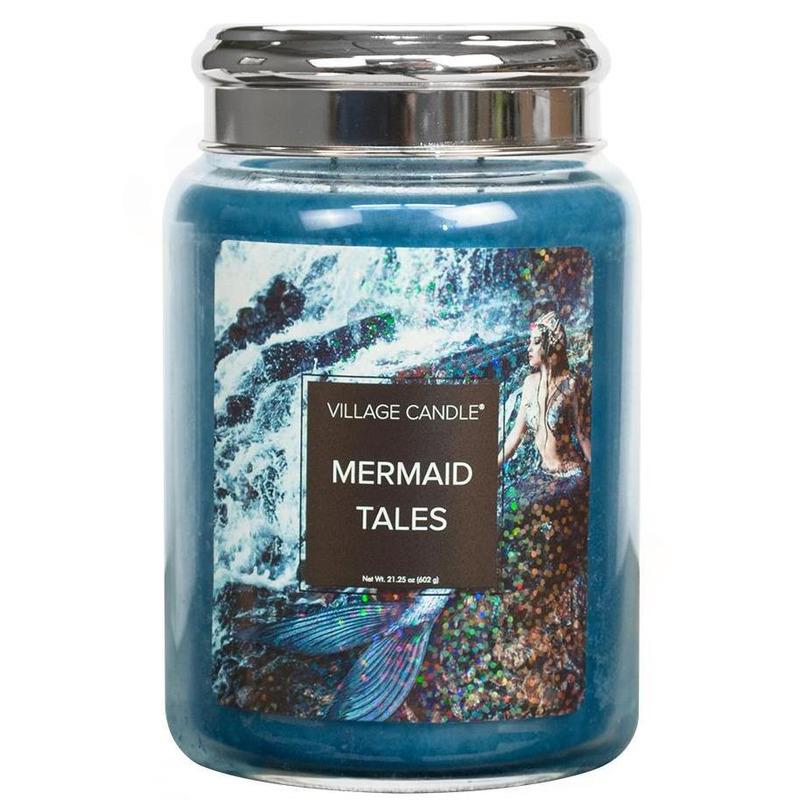 Village Candle Veľká vonná sviečka v skle Mermaid Tales 645g - Príbehy morských panien