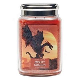 Village Candle Veľká vonná sviečka v skle Mighty Dragon 645g - Mocný drak