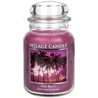 Village Candle Veľká vonná sviečka v skle Palm Beach 645g - Palmová pláž