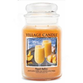 Village Candle Veľká vonná sviečka v skle Peach Bellini 645g - Broskyňové Bellini