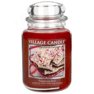 Village Candle Veľká vonná sviečka v skle Peppermint Bark 645g - Mätové potešenie