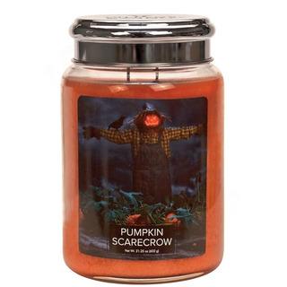 Village Candle Veľká vonná sviečka v skle Pumpkin Scarecrow 645g - Strašiak na poli