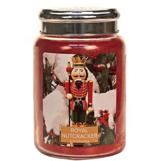 Village Candle Veľká vonná sviečka v skle Royal Nutcracker 645g - Kráľovský luskáčik