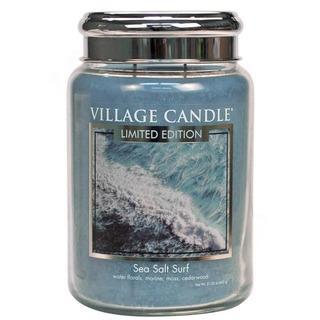 Village Candle Veľká vonná sviečka v skle Sea Salt Surf 645g - Morský príboj