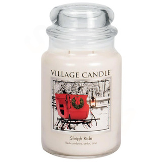 Village Candle Veľká vonná sviečka v skle Sleigh Ride 645g - Zimná vychádzka