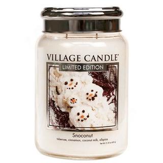 Village Candle Veľká vonná sviečka v skle Snoconut 645g - Kokosový sneh