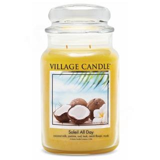 Village Candle Veľká vonná sviečka v skle Soleil All Day 645g - Deň na pláži