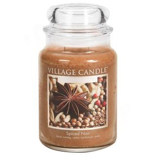 Village Candle Veľká vonná sviečka v skle Spiced Noir 645g - Korenie života