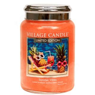 Village Candle Veľká vonná sviečka v skle Summer Vibes 645g