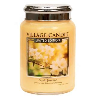 Village Candle Veľká vonná sviečka v skle Sunlit Jasmine 645g