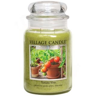 Village Candle Veľká vonná sviečka v skle Tomato Vine 645g - Paradajková záhradka