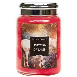 Village Candle Veľká vonná sviečka v skle Unicorn Dreams 645g - Sny jednorožca