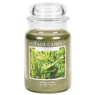 Village Candle Veľká vonná sviečka v skle White Cedar 645g - cédrové drevo