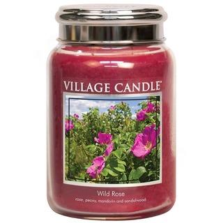 Village Candle Veľká vonná sviečka v skle Wild Rose 645g - Divoká ruža
