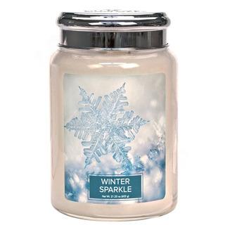 Village Candle Veľká vonná sviečka v skle Winter Sparkle 645g - Zimný trblietanie
