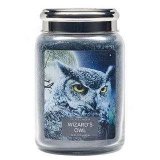 Village Candle Veľká vonná sviečka v skle Wizards Owl 645g - Čarodejníkova sova