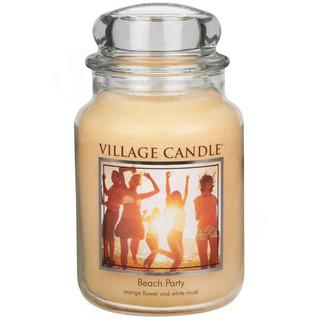 Village Candle Veľká vonná sviečka v skle Beach Party 645g - Plážová párty