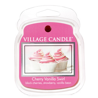 Village Candle Vonný vosk Cherry Vanilla Swirl 62g - Višňa a vanilka