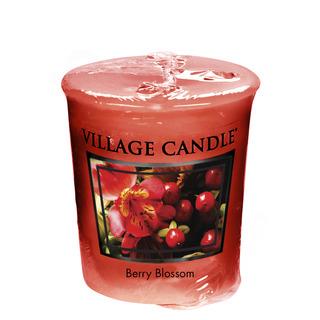 Village Candle Votívny sviečka Berry Blossom 57g - Červené kvety