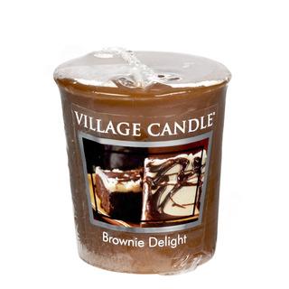 Village Candle Votívny sviečka Brownie Delight 57g - Čokoládový torta