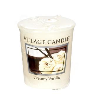 Village Candle Votívny sviečka Creamy Vanilla 57g - Vanilková zmrzlina