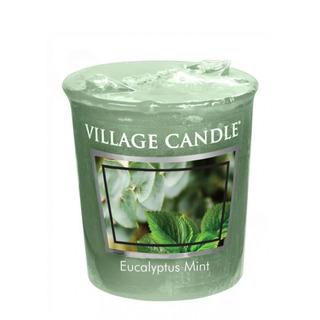 Village Candle Votívny sviečka Eucalyptus Mint 57g - Eukalyptus a mäta