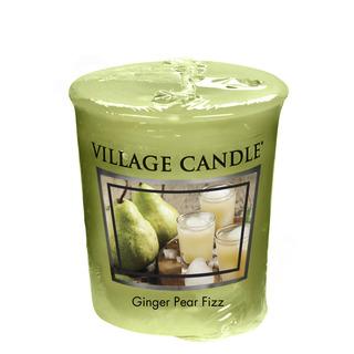 Village Candle Votívny sviečka Ginger Pear Fizz 57g - Hruškový fizz so zázvorom