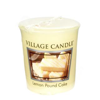 Village Candle Votívny sviečka Lemon Pound Cake 57g - Citrónový koláč
