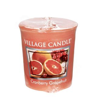 Village Candle Votívny sviečka Cranberry Grapefruit 57g - Brusnica a grapefruit