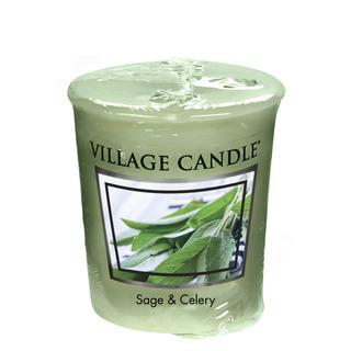 Village Candle Votívny sviečka Sage Celery 57g - Svieža šalvia